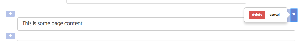 screenshot of delete button