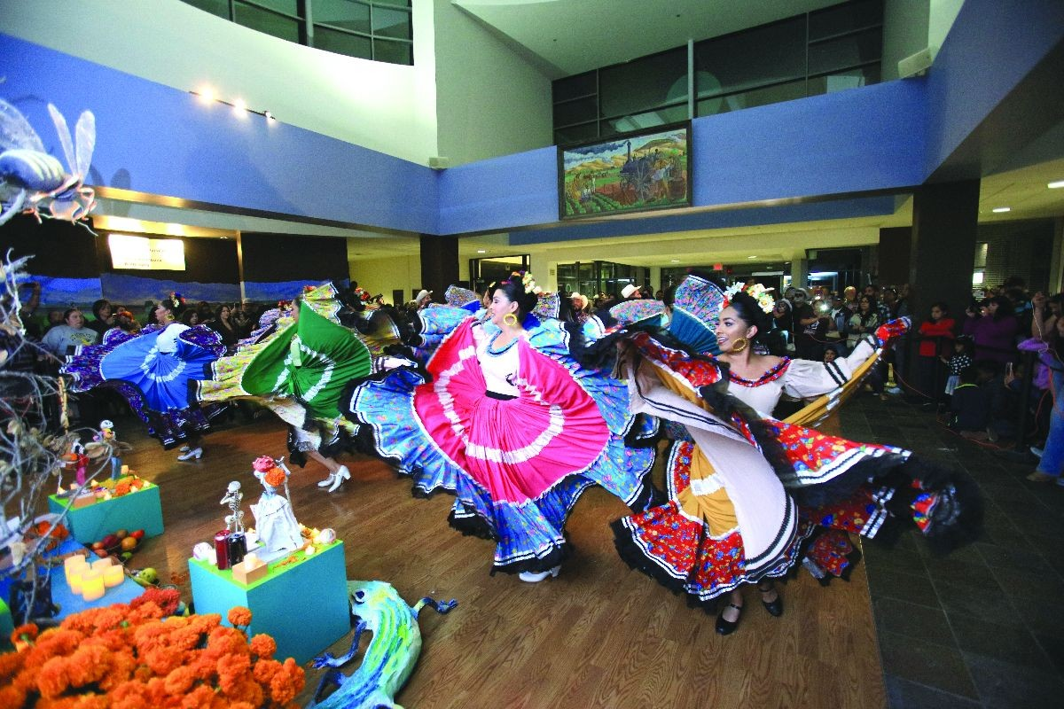 Colorful dancers at Salinas Center for Arts and Culture