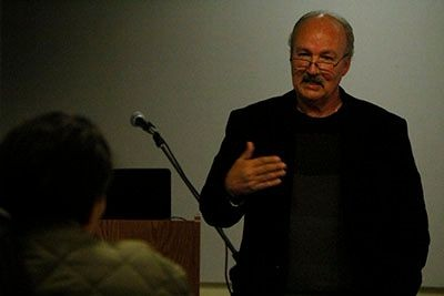 Marvin Mutch discusses life behind bars during the documentary screening.