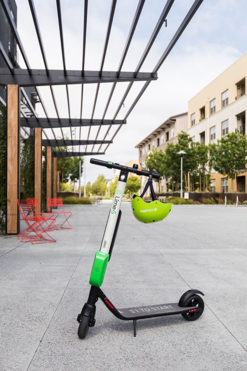 Image of a lime-s scooter