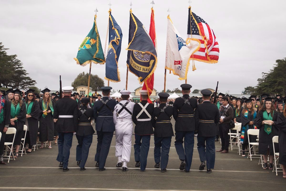 US Military Color Guard at CSUMB Commencement
