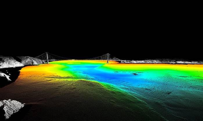 SFML marine laser scanner data for San Francisco Bay entrance channel