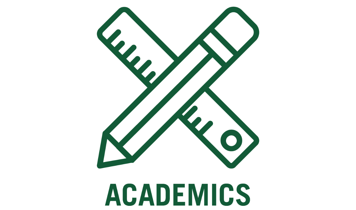 academics with ruler and pencil icon