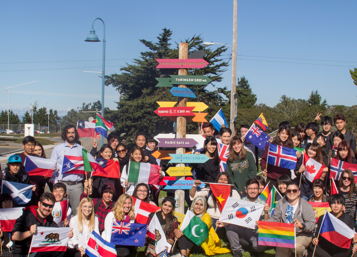Students participating in International Education week at CSUMB