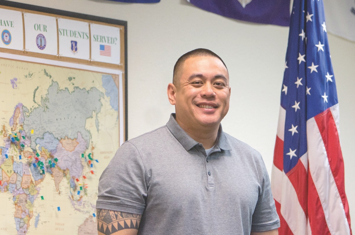 Student veteran Gilbert Bernabe