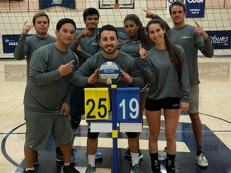 Indoor volleyball championship photo
