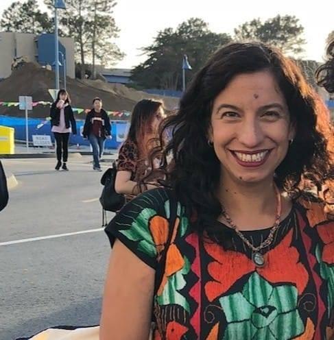 Teacher Professor Maria J Villasenor smiling