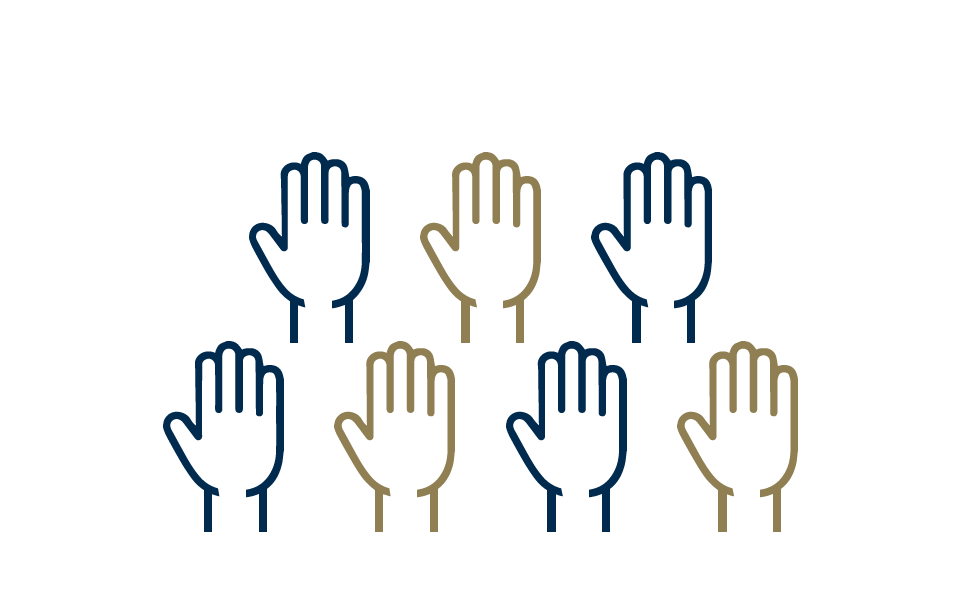 hand icons representing event staff