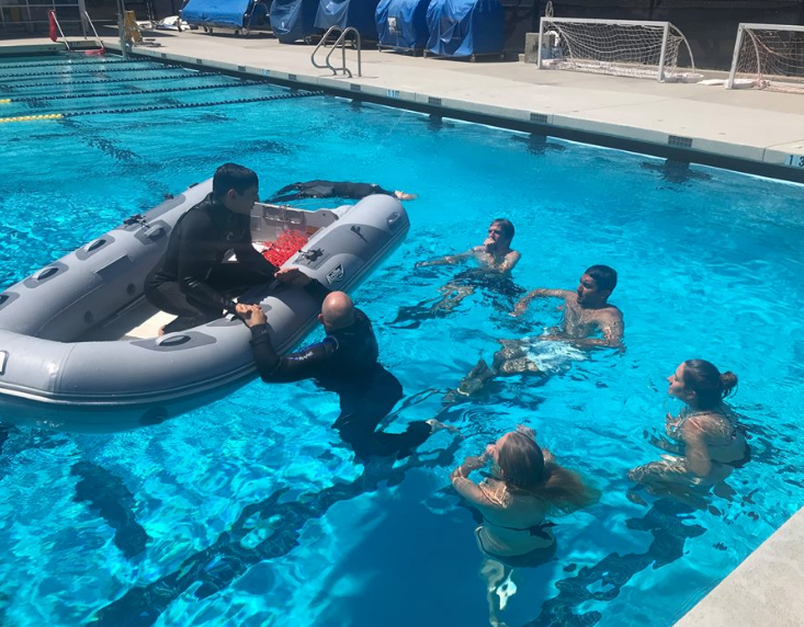 REU students learn the basics of boating operation and safety as part of their