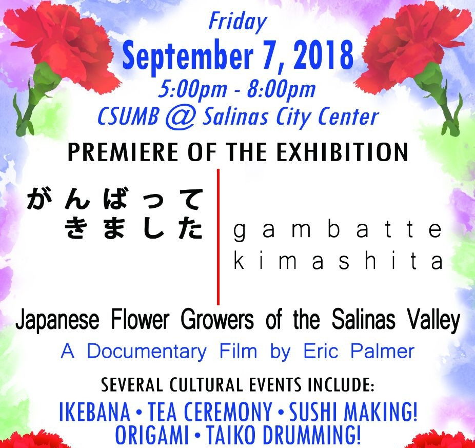 Exhibition Opening Gambatte Kimashita Japanese Flower Growers Of