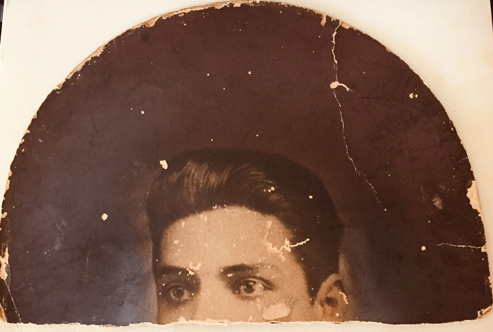 Old image of a person in a hat