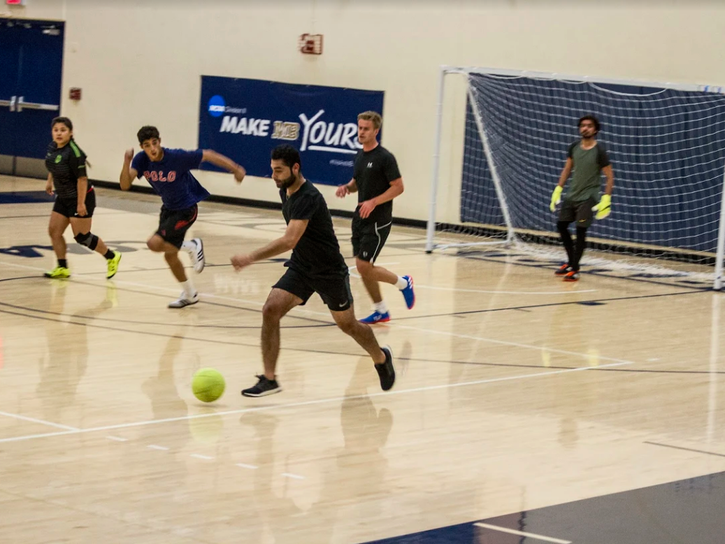 live action indoor soccer photo