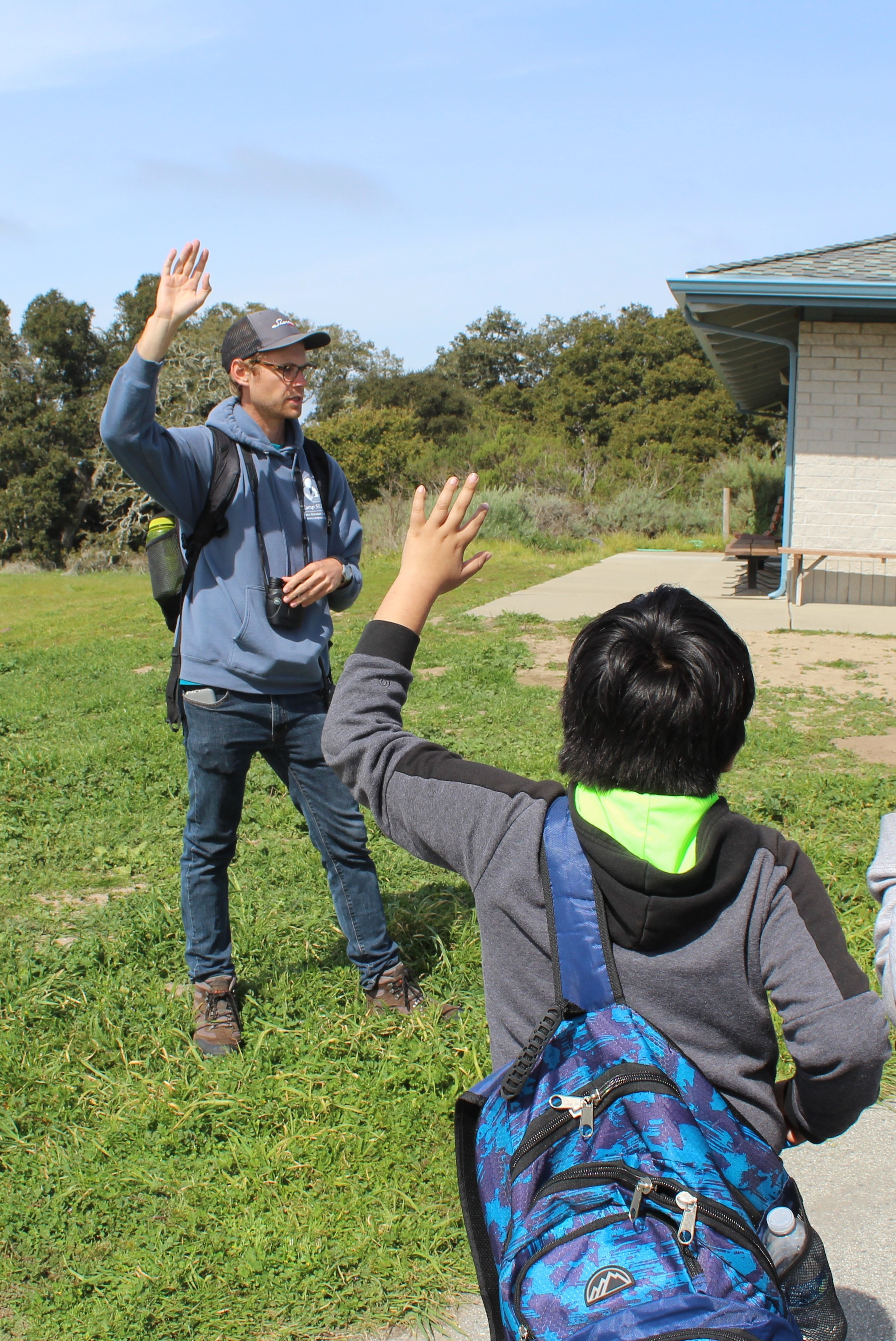 Natualist teaching campers