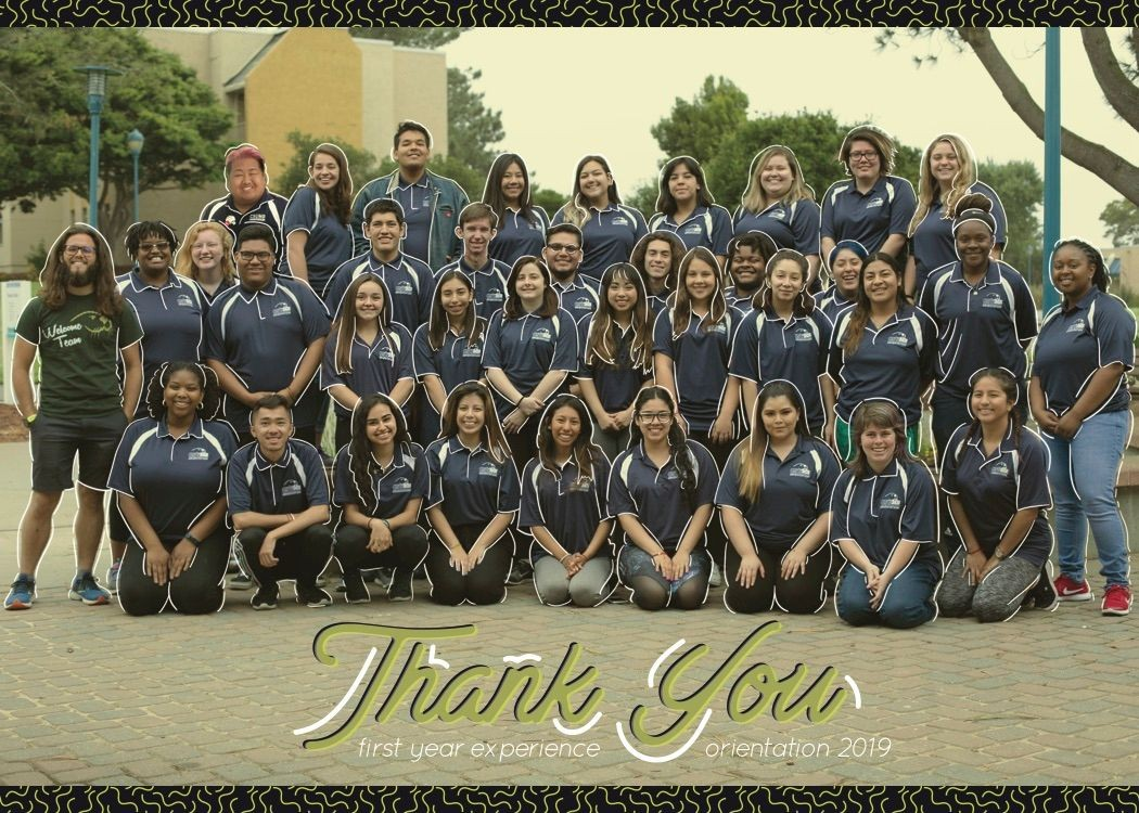 "2019 Orientation Leaders: ""Thank you, First Year Experience, Orientation 2019"""