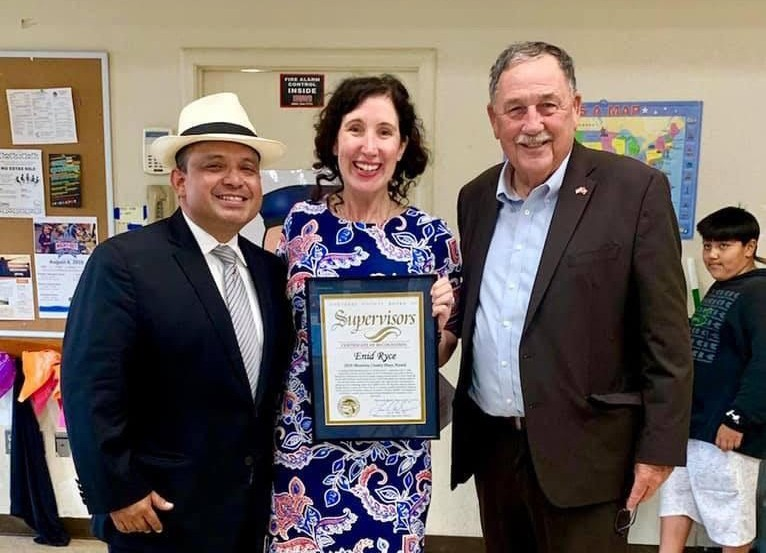Monterey County Supervisor Luis Alejo, Enid Ryce and Salinas Mayor Joe Gunter
