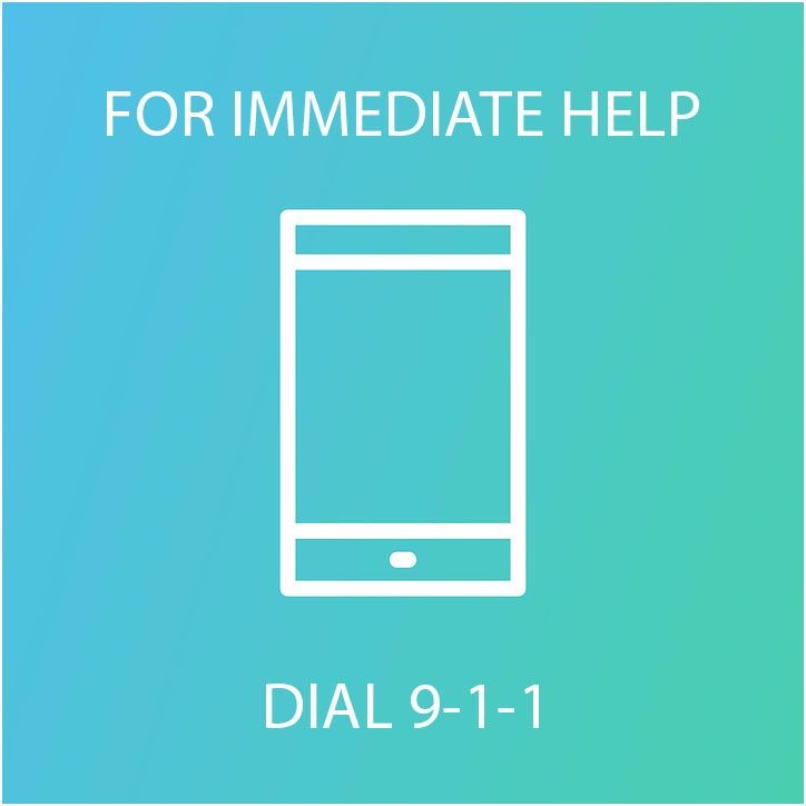For immediate help dial 9-1-1