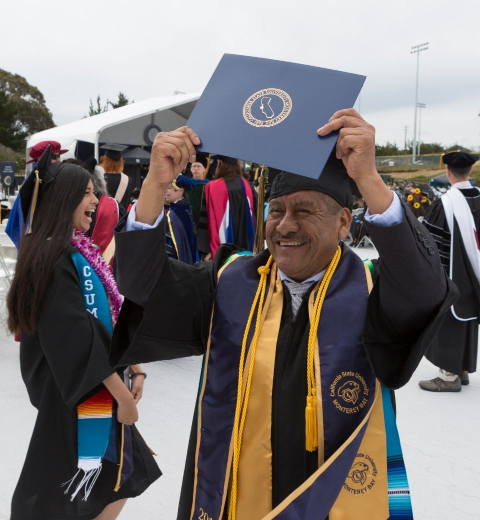 Adolfo at commencement