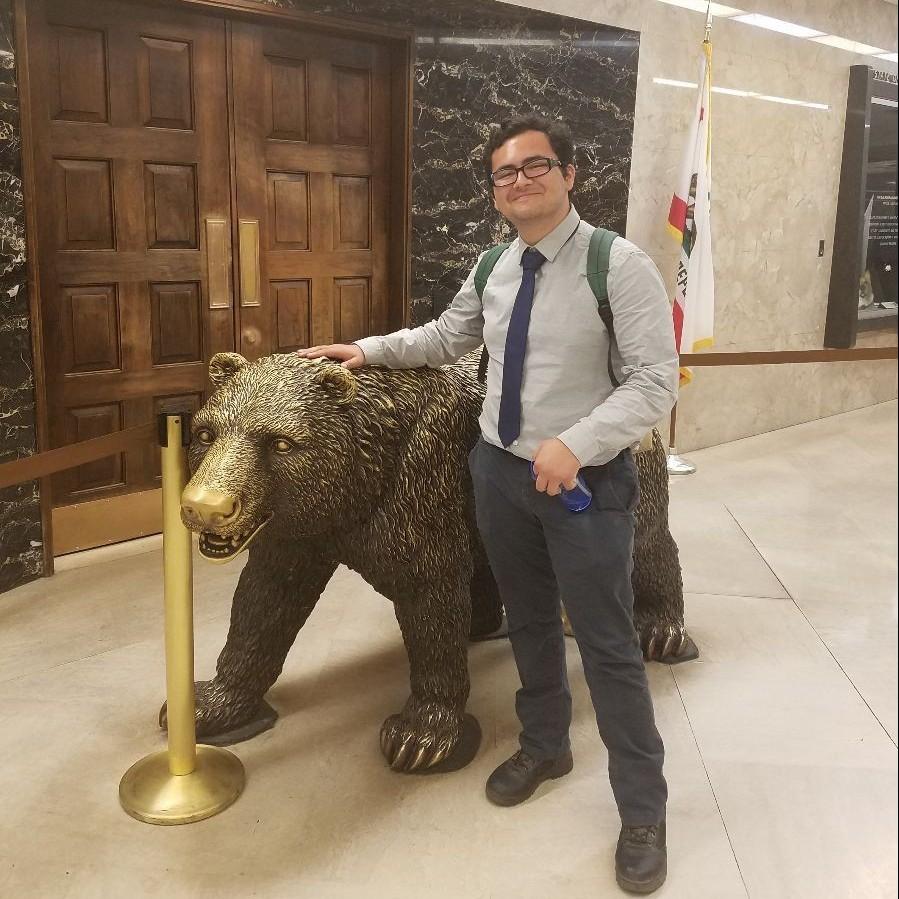 CSUMB Student Jose Duque at the CA State Capitol