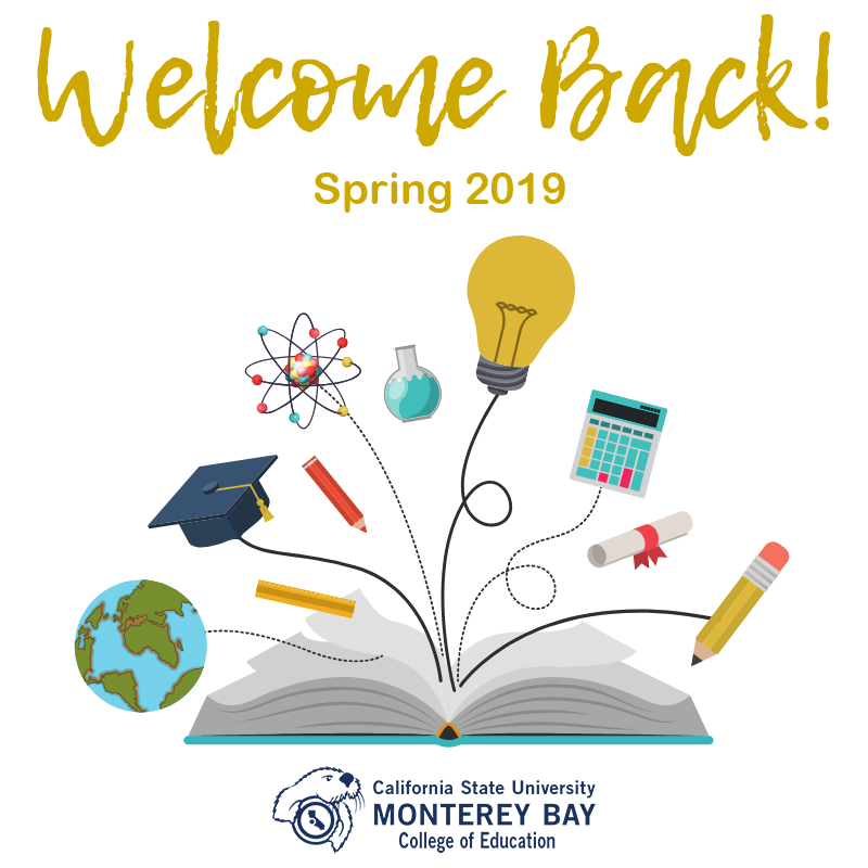 Welcoming everyone back to the Spring 2019 semester.