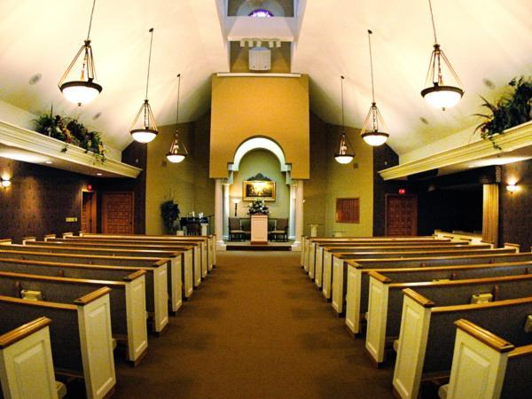 Chapel seating over 200 comfortably