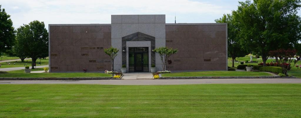 Garden Mausoleum with Interior Glass Front Niches