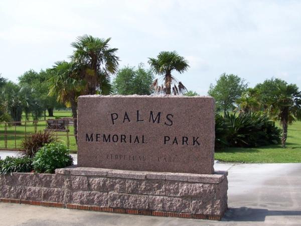 Palms Memorial Park Sign
