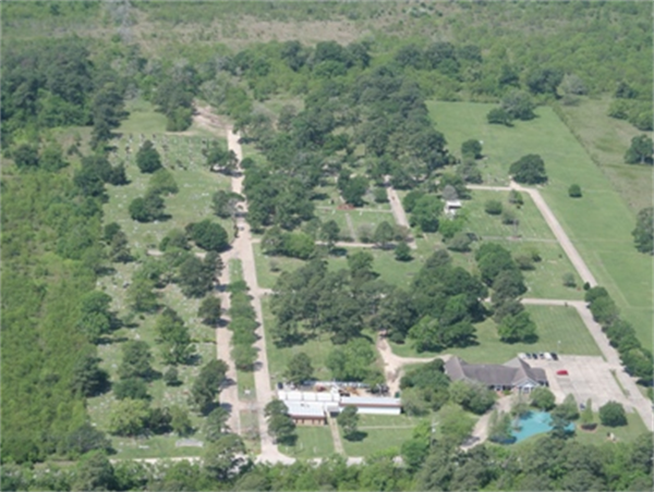 Sterling-White Cemetery Aerial View