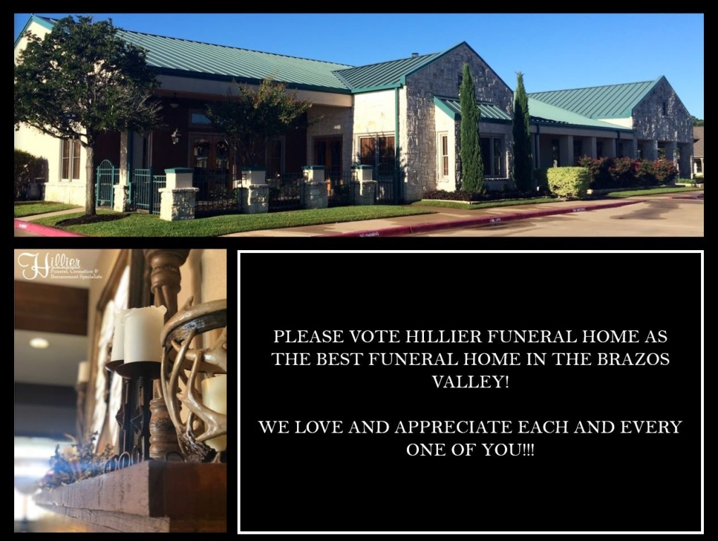 Hillier Funeral Home for the Best Funeral Home in the Brazos Valley