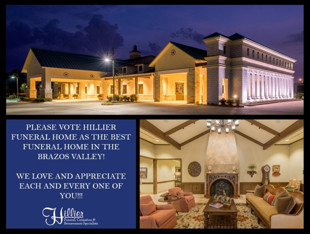 Hillier Funeral Home for Best Funeral Home in the Brazos Valley