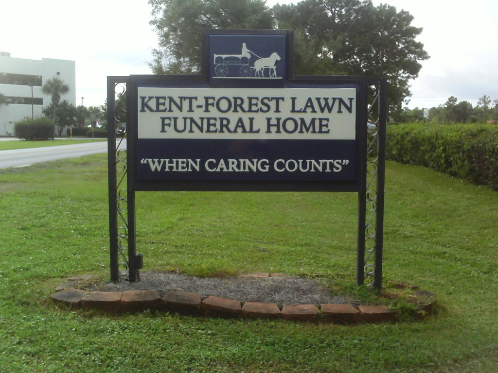 Kent-Forest Lawn Funeral Home Sign