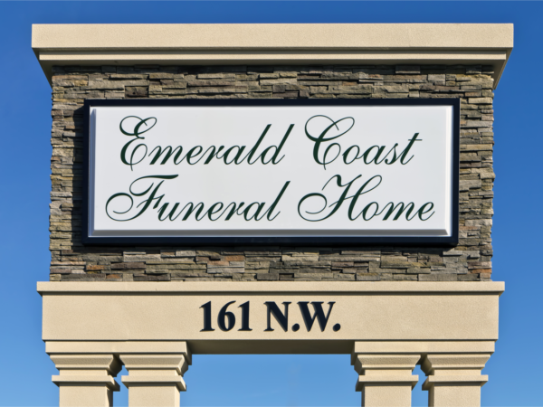Emerald Coast Funeral Home Sign