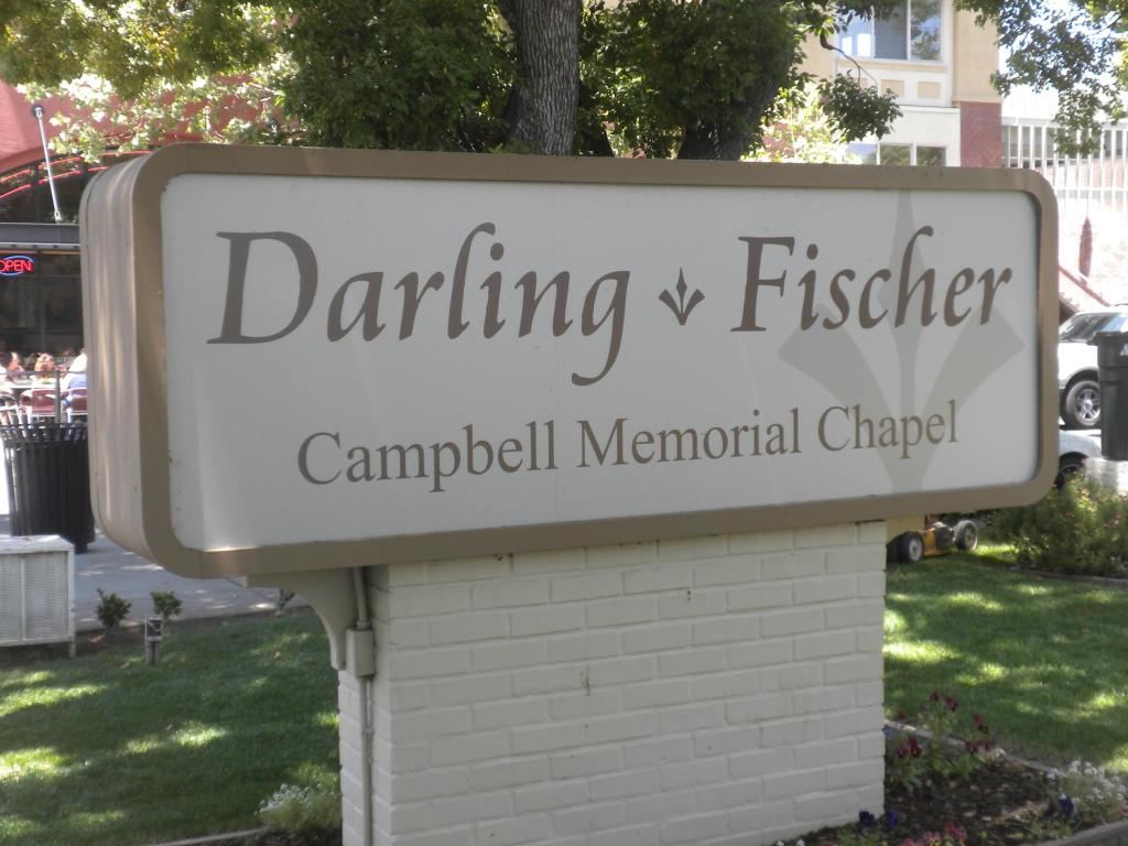 Darling  Fischer Campbell Memorial Chapel Sign