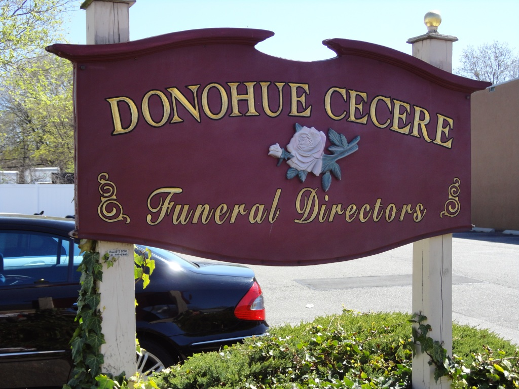 Donohue Cecere Funeral Directors Sign