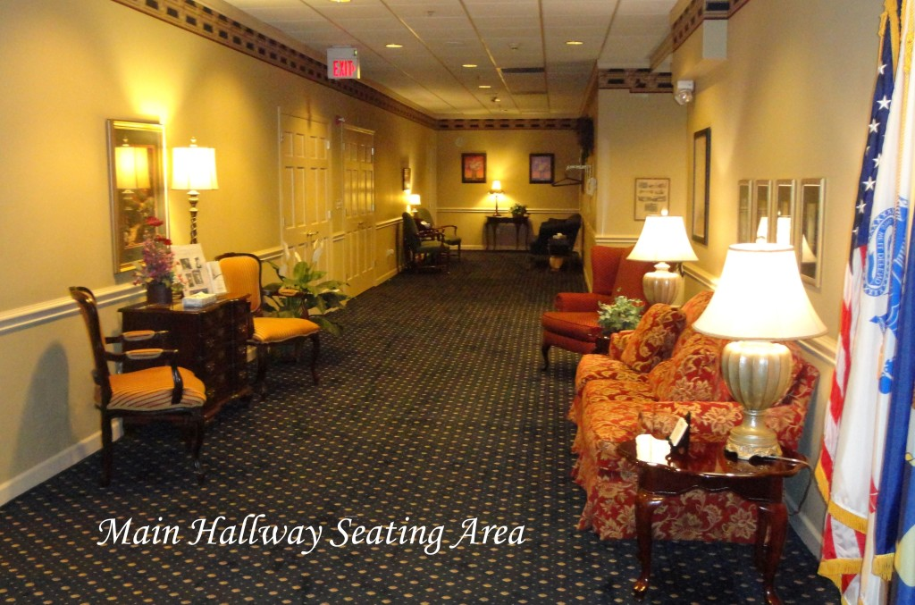 Donohue Cecere Funeral Directors Main Hallway Seating Area