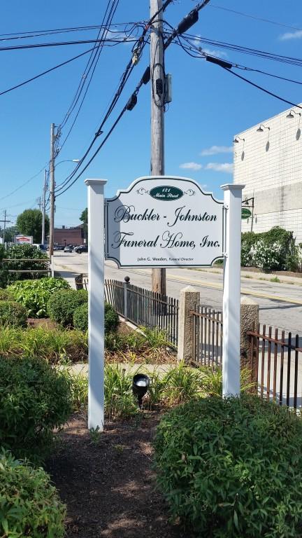 Buckler-Johnston Funeral Home Sign