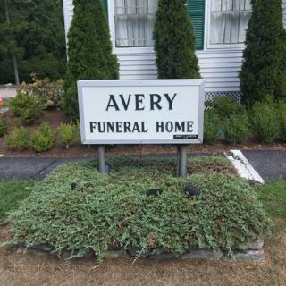 S.R. Avery Funeral Home Sign