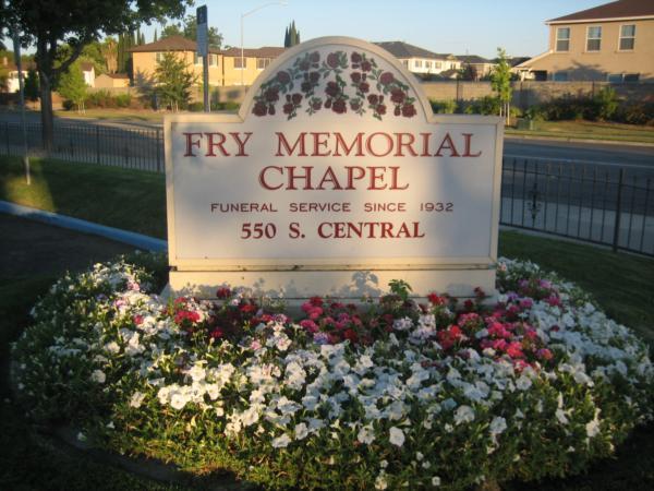 Fry Memorial Chapel Sign