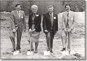 Frank, Sylvia, Anthony  Peter Forastiere  1984 Groundbreaking  Southwick Forastiere Funeral Home