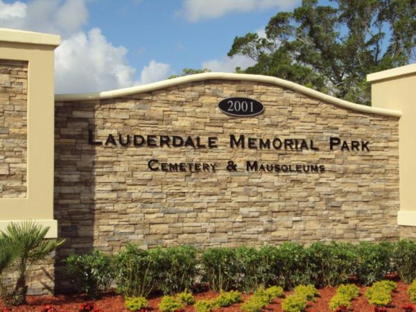 Lauderdale Memorial Park Sign