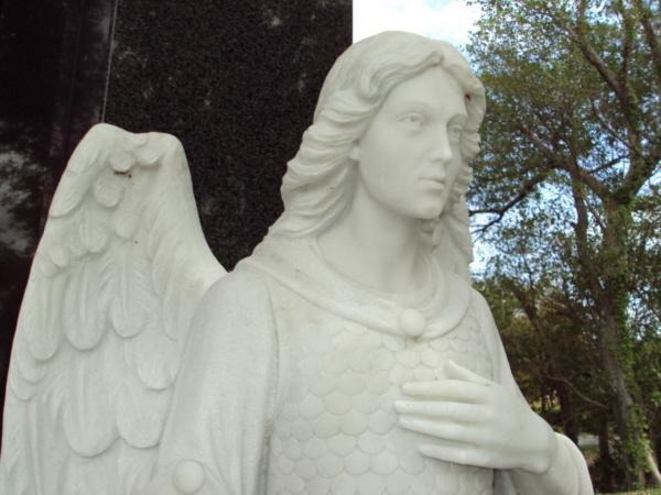 Evergreen Cemetery Statue