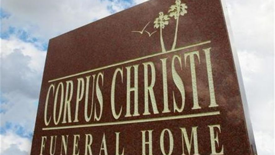 Corpus Christi Funeral Home Sign
