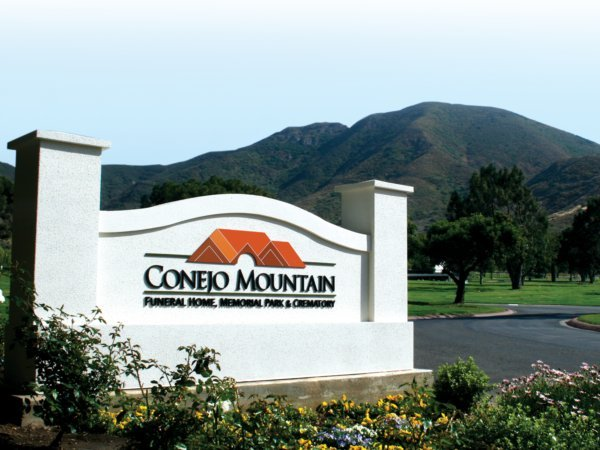 Conejo Mountain Funeral Home, Memorial Park  Crematory Exterior Sign