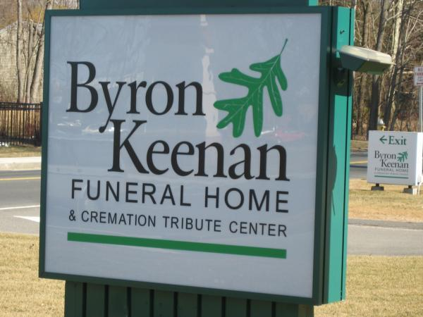 Byron Keenan Funeral Home  Cremation Tribute Center Sign