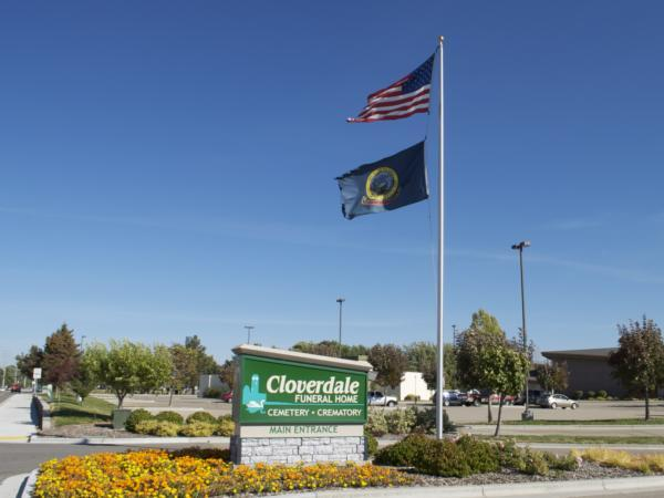 Cloverdale Funeral Home and Memorial Park Sign