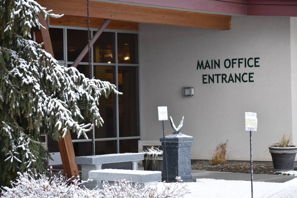 Funeral Home Main Entrance
