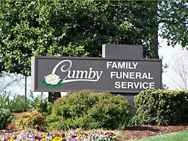 Cumby Family Funeral Service - High Point Location Sign