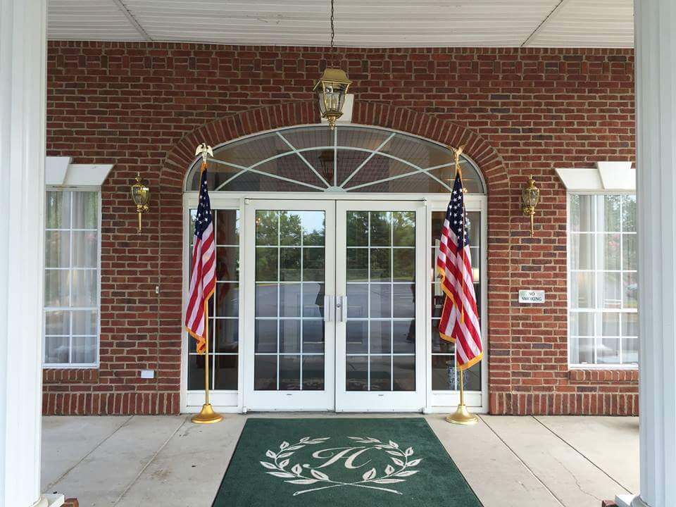Heritage Funeral Home and Cremation Services Entrance