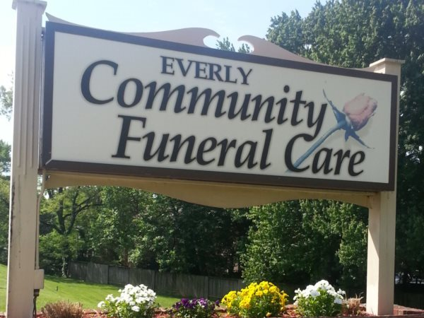 Everly Community Funeral Care Sign