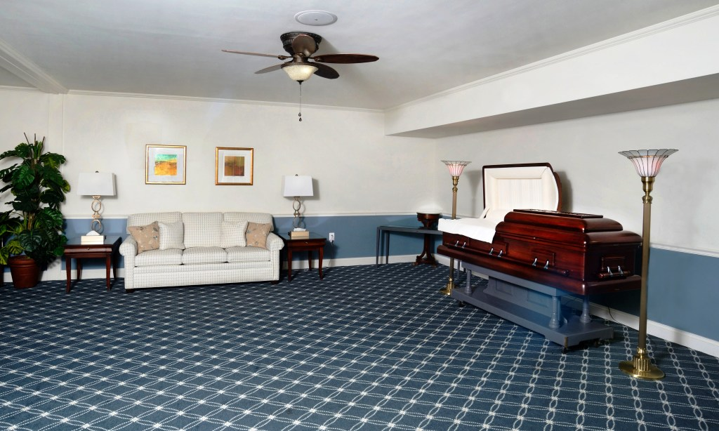 The Washington Suite is a versatile room for personalizing your loved one's Visitation or Memorial Service.