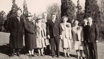 Arthur and Martha Bryant's Wedding Day, April 21, 1946 at Easter Dawn.